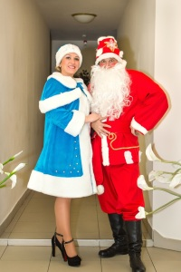 Санта и Снегурочка